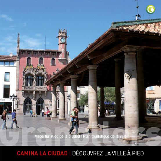 Plano turístico de Granollers castellano francés