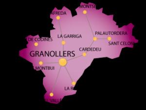 Mapa de Granollers