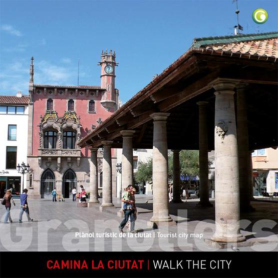 Plano turístico de Granollers catalán inglés
