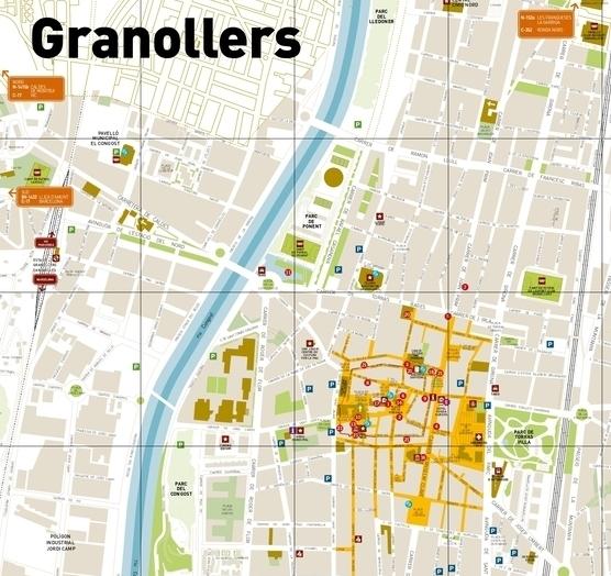 Plànol hotels Granollers